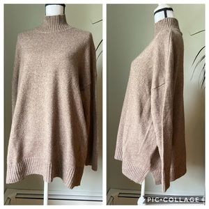 GAP mock neck wool blend sweater